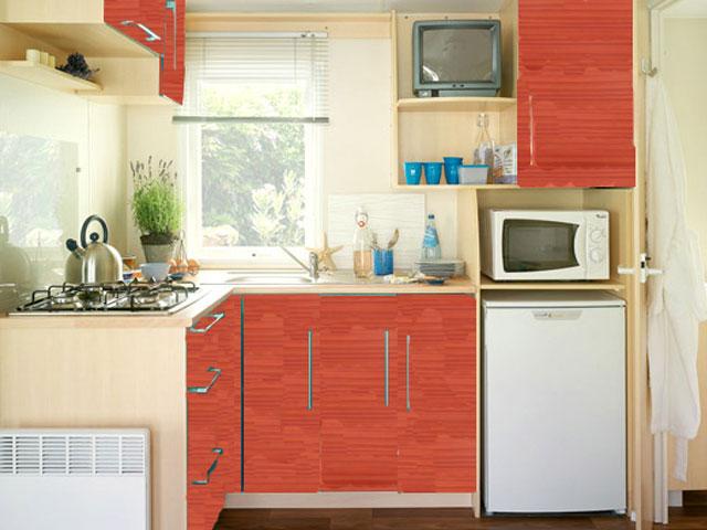mobilhome cottage confort avec loggia domaine du lac de miel. Black Bedroom Furniture Sets. Home Design Ideas